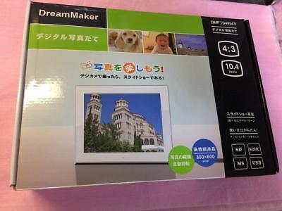 RARE! DreamMaker Digital Photo Frame DMF104 W43 10.4Inc Official Japan