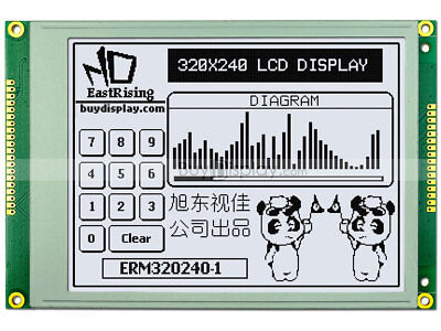 5.7white 320x240 Graphic Lcd Module Ra8835 Sed1335optional Touch Panel
