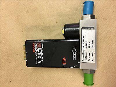 1x 5850TR Serie BROOKS Mass Flow Meter Fl.10In/min 02, Signal 0-5VDC,(LW1/23) Serie Flow Meter