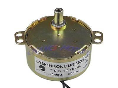 5/6RPM  Flush  Shaft  Synchronous  Motor    TYD50  AC  110V  CCW  5Kgf.cm   NEW!