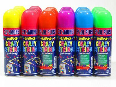 48 Cans of Crazy String, Party String, Fun & Silly