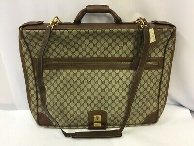 GUCCI Vintage Garment Bag Case GG Logo Luggage