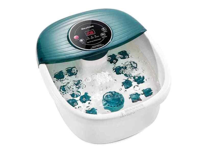 Foot Spa Bath Massager w/ Heat, Bubbles & Vibration, Digital Temperature Control