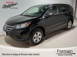 2013 Honda CR-V LX - Heated seats   Bluetooth   Certified!