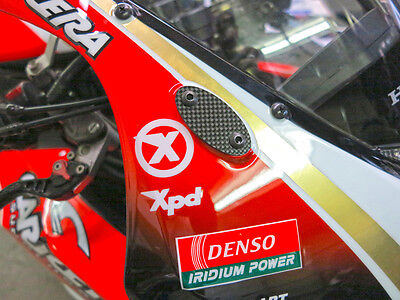 (Mirror Block Off Plates/Caps (Real Carbon Fiber) for Honda Sportbikes (One Pair))