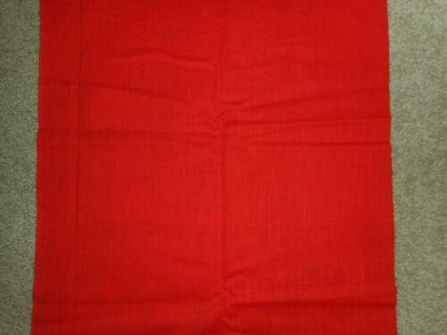 """Vintage Japanese Kimono Yukata from Kimono  Plain Red 13.25"""" x 36"""""""