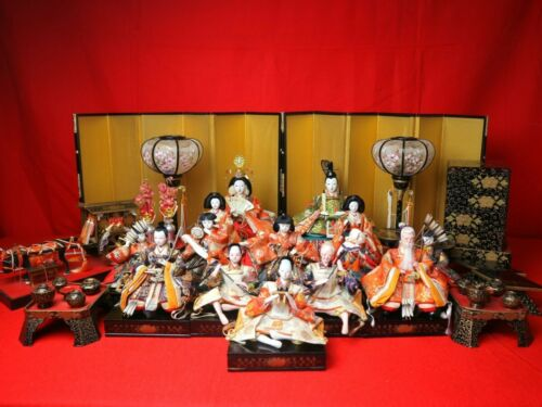 LOT 15 Vintage Japanese Hina Samurai doll set Early Showa era 70-80 years