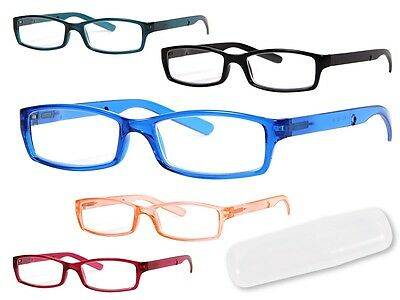 Lese-Brille Lesehilfe Klar klare Sehhilfe Herren Damen Stärke +1.0 RG-152 Orange