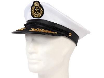 Matrosen-Mütze Kapitänsmütze Segler Hut Seemann-Kostüm Fasching Karneval 177 - Kapitän Hut Kostüm