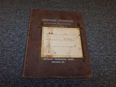 Manitowoc 3000 Crawler Crane Owner Operator Instruction Parts Catalog Manual