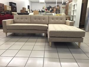 FABRIC 2.5 SEATER SOFA W/CHAISE (OATMEAL) Logan Central Logan Area Preview