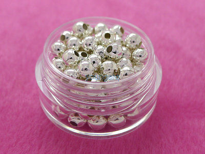 Wholesale Bronze Gold /&Silver Plated Metal Ball Spacer Beads 2.5//3// 4// 5// 6//8mm