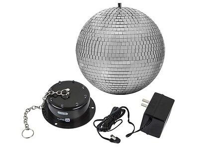 10-inch Disco Mirror Ball Motor Spin with LED Lights For DJ Disco Party Show (Mirror Ball Light)