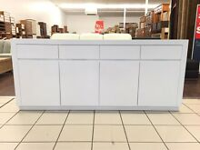 BROOKLYN BUFFET 4 DOOR WHITE GLOSS Logan Central Logan Area Preview