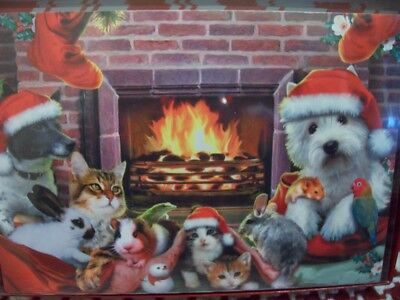 LEANIN TREE CHRISTMAS CARD SET CATS BUNNY JACK RUSSEL WEST HIGHLAND 10 PK NEW !