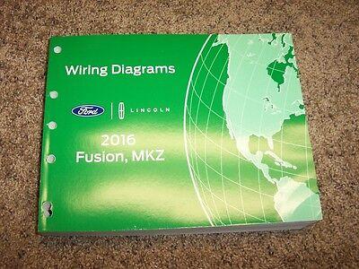 2016 Lincoln MKZ Electrical Wiring Diagram Manual Black Label 2.0L 3.7L V6