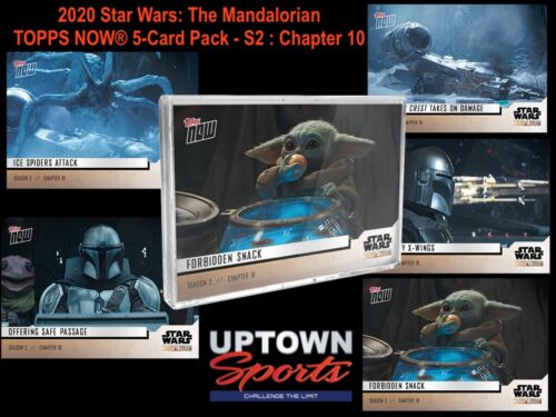 🚀 2020 Star Wars: The Mandalorian TOPPS NOW® 5-Card Pack - S2 : Chapter 10