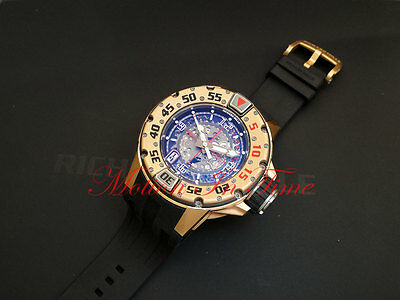 Richard Mille RM028 Diver Automatc 18k Rose Gold 47mm 300m Skeleton Black Rubber