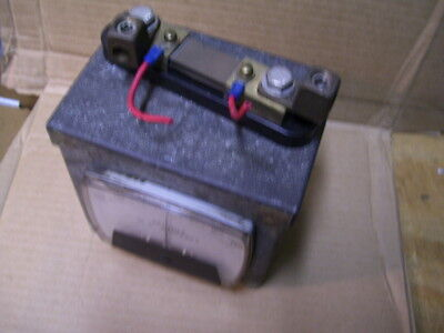 Simpson 254 - 150a Dc Spindle Current Meter Wenclosure And 06503 Shunt P2577