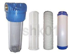 Filtro acqua Filtro anteriore con senza Cartuccia Carboni attivi Pompa pompa  eBay