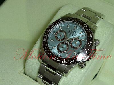 Rolex Cosmograph Daytona Platinum Ice Blue Dial Ceramic Bezel Chronograph 116506