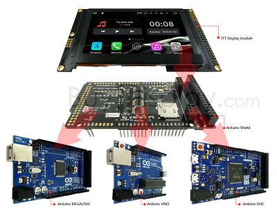 4.3tft Capacitive Touchscreen Display Warduino Shield 480x272 For Duemegauno