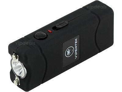 VIPERTEK VTS-881 35 BV Rechargeable Micro Mini Stun Gun LED Flashlight - Black