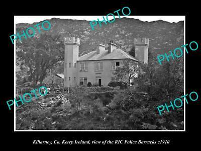 OLD 6 X 4 HISTORIC PHOTO OF KILLARNEY Co KERRY IRELAND RIC POLICE BARRACKS c1910