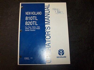 New Holland 810tl Loader 820tl Tna Tn Tdd Tnfa Tla Tnsa Tractor Operator Manual