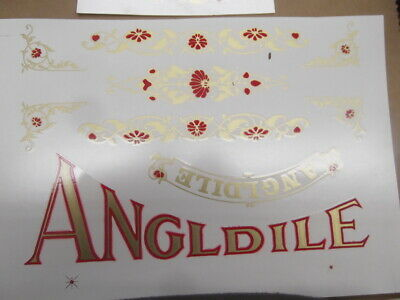 NEW JUST Made  ANGLDILE SCALE COMPLETE WATER TRANSFER DECAL SET