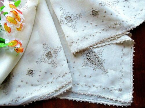 Antique Italian Tablecloth Handmade Lace Punto Antica, Punto Venezia,Reticella