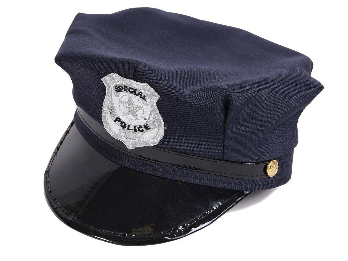 Polizeihut Polizeimütze Kinder Cap Karneval Cop Polizist Fasching Hut 176a