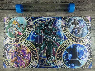 Dark Magician Deck YuGiOh Rule 4 Card Link Zones TCG Playmat Mat Free Best