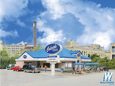 3486 Walthers Cornerstone Culver's Family Restaurant with Drive Thru HO Scale