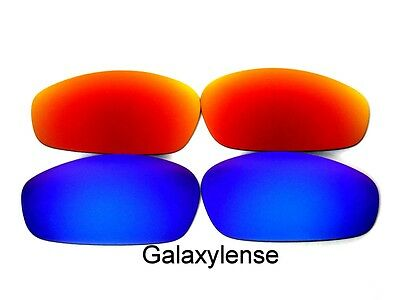 Galaxy Replacement Lenses For Oakley Blender Sunglasses Blue&Red Polarized for sale  Orlando