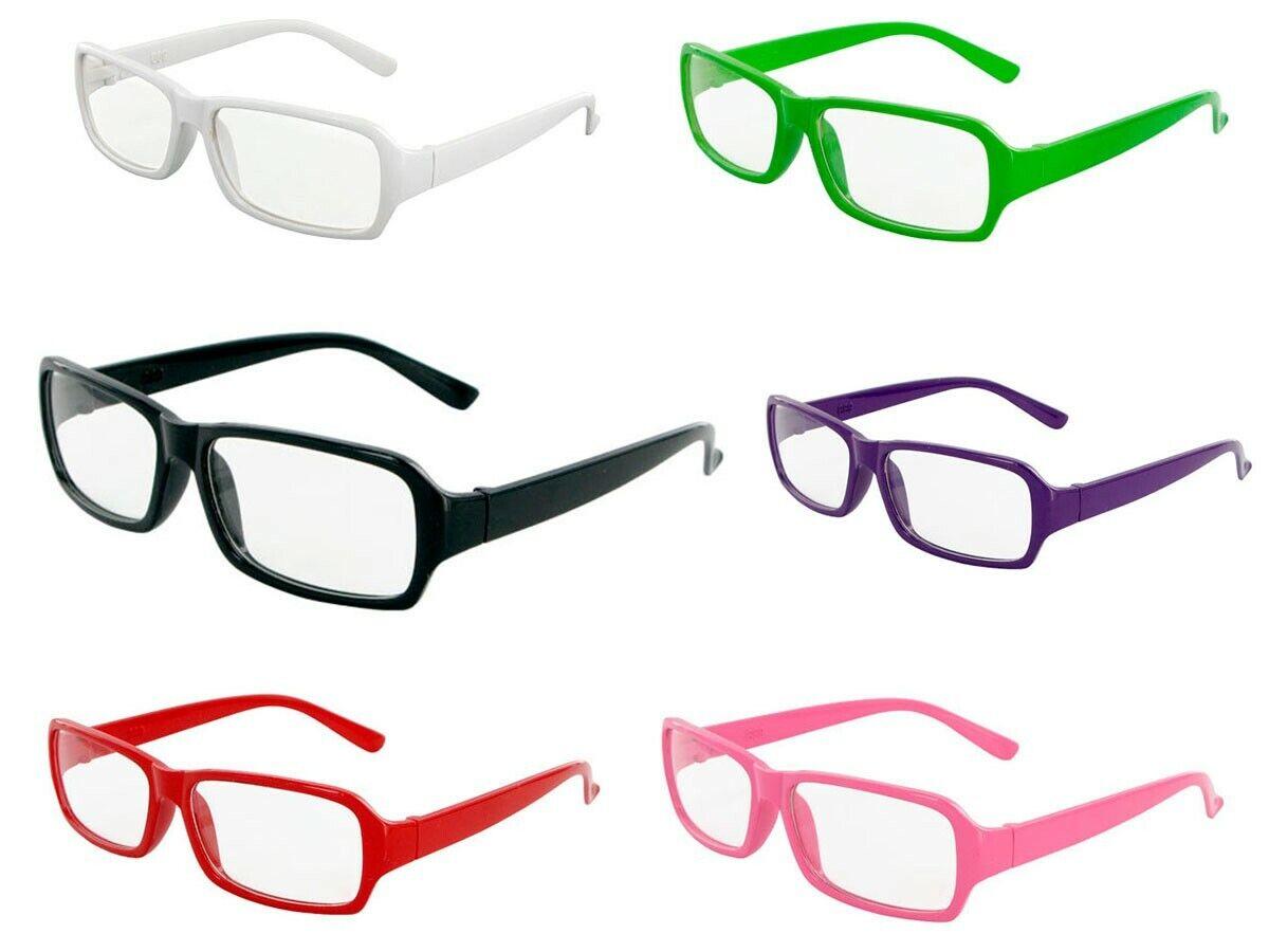 Sekretärinnen Brille Brillen Retro Nerd klares Glas 889 Damen Business Brille