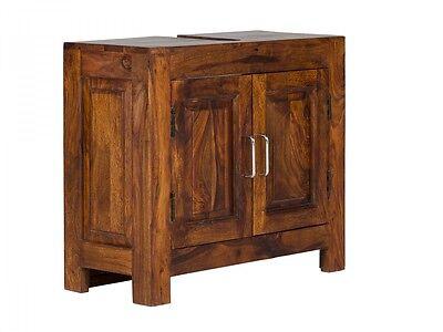 Badmöbel Waschbeckenunterschrank Badschrank massiv Holz Möbel Neu CUBUS