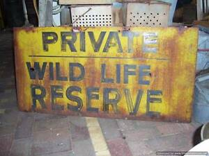 LARGE RUSTIC SIGN Rosewater Port Adelaide Area Preview
