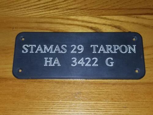 Boat Name Plate STAMAS 29 TARPON