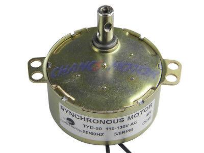 Motor Synchronous Tyd50 110v 5-6rmin Anticlockwise Rotation 7mm Shaft Ccw Small