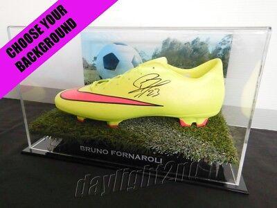 ✺Signed✺ BRUNO FORNAROLI Football Boot PROOF COA Melbourne City 2019 Jersey image