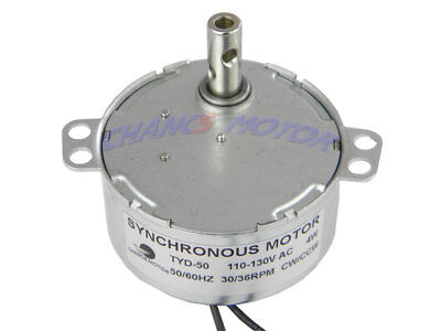 Chancs Synchronous Motor Tyd-50 30-36rpm Ac 110-130v 4w Small Electric Motors