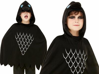 Scary Krähe Poncho Kinder Halloween Kostüm Jungen Mädchen Alter 4-12