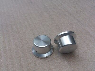 1 Pcs Hifi 443525 Silver Aluminum Amplifier Solid Volume Potentiometer Knob