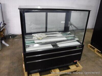 Turbo Air Tcgb-48uf-b-n Black 48 Flat Glass Refrigerated Bakery Display Case