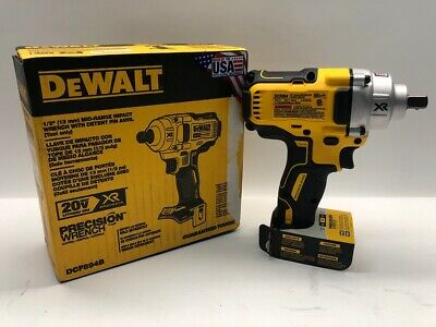 DEWALT 20V MAX XR Cordless Impact Wrench Kit with Detent Pin Anvil,