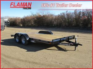 Diamond C 16' Flatdeck Carhauler Trailer - Two 3500 lb Axles!