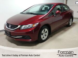 2013 Honda Civic LX - Low KMs | One Local Owner | Manual