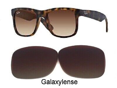 Replacement Lenses For Ray Ban RB4165 Justin Brown Gradient Color 54mm (Gradient Polarized Lenses)
