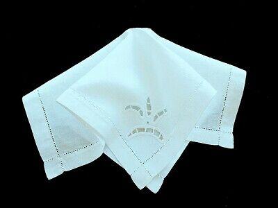 Vintage Linen Dinner Napkins Serviettes Linen Green Small Luncheon Large Dinner  Wedding Gift Bridal Shower